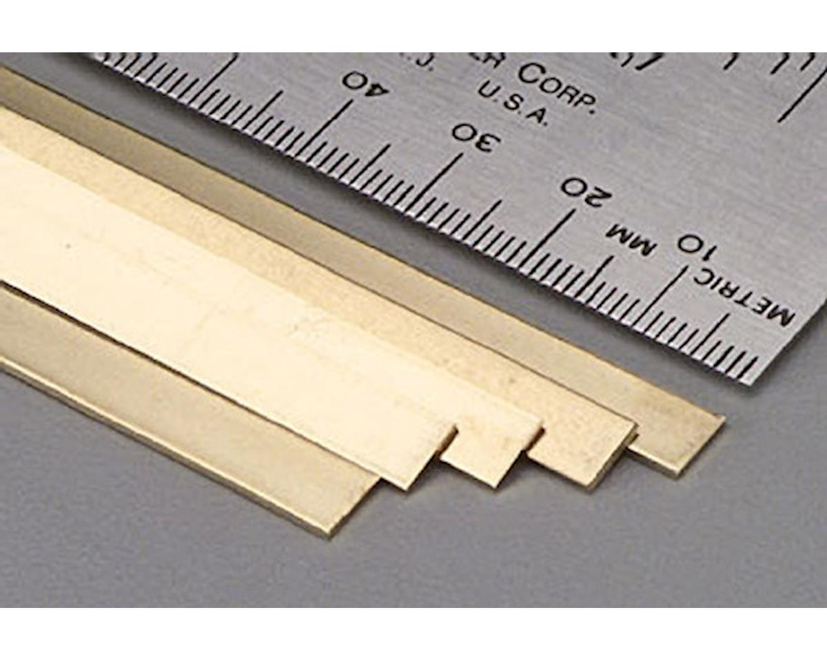 "K&S Engineering 9718 Brass Strip .032x1/4x36"" (5)"