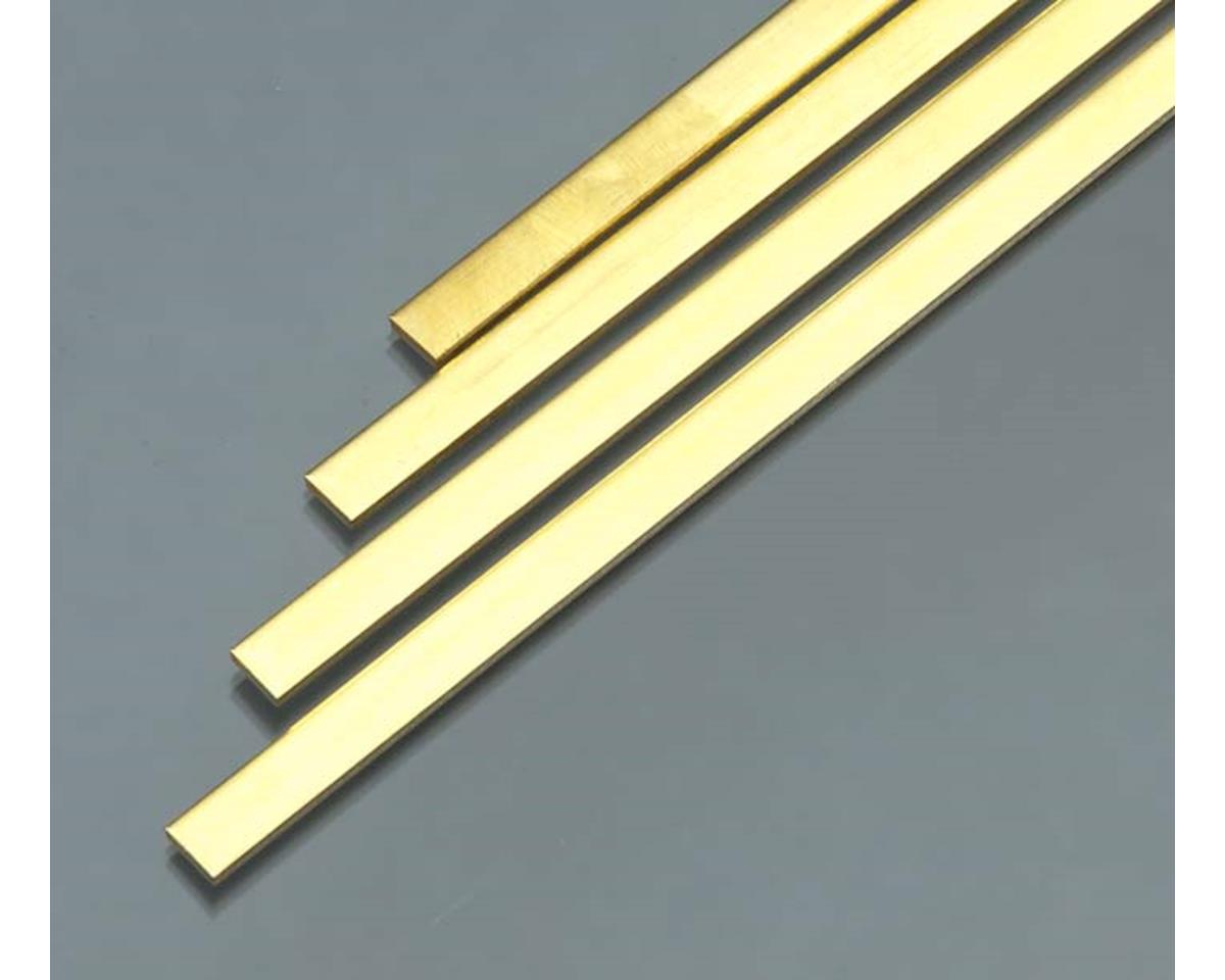 "K&S Engineering 9736 Brass Strip .093x1/4x36"" (4)"