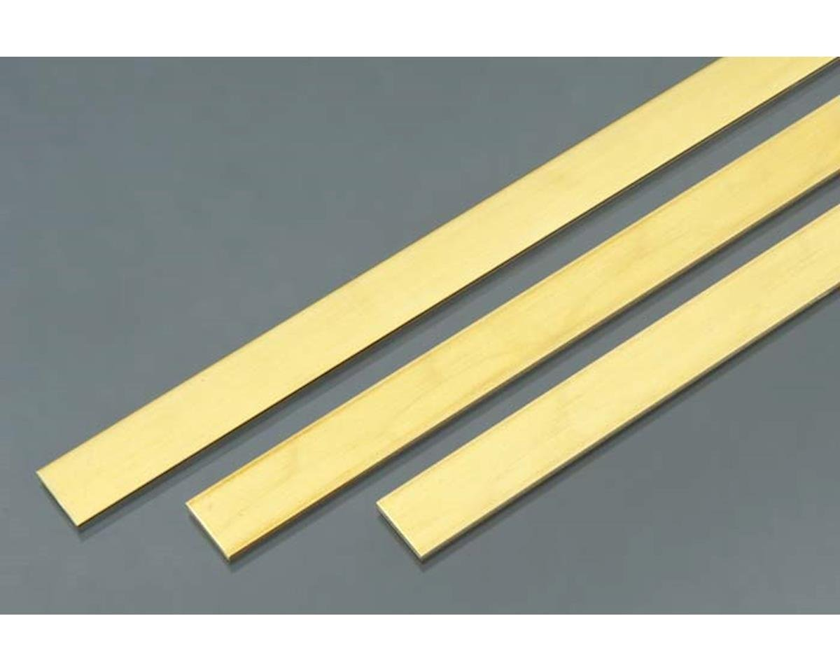 "K&S Engineering 9739 Brass Strip .093x1/2x36"" (3)"