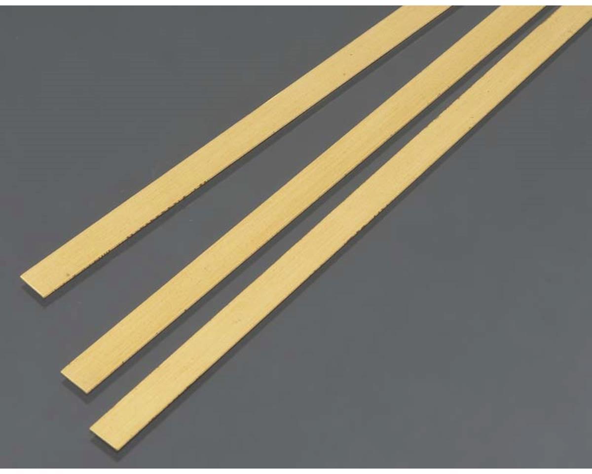 Brass Strip,  .5 mm  x 6 mm  (3) by K&S Engineering