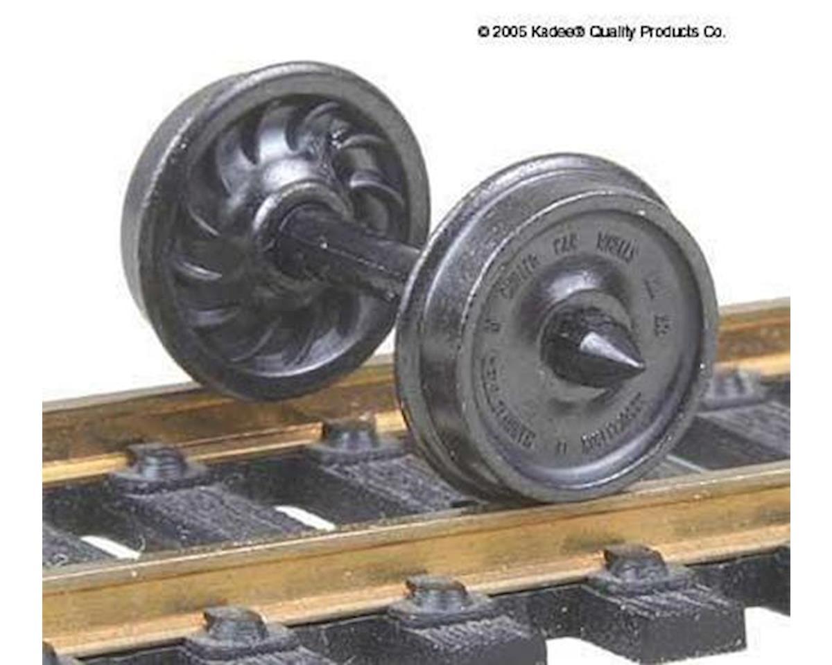 "Kadee HO Metal Wheels, 36""/Ribbed (12)"