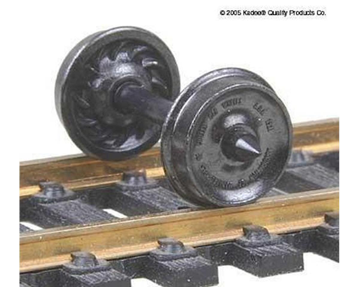 "Kadee HO Metal Wheels, 33""/Ribbed (12)"