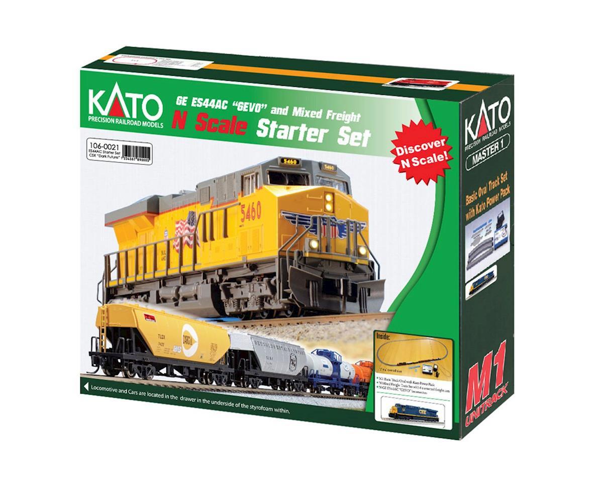 Kato N ES44AC Freight Train Set, CSX/Dark Future