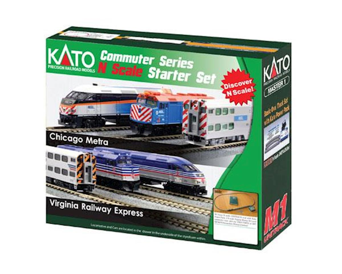 Kato N F40PH Commuter Starter Set, Metra