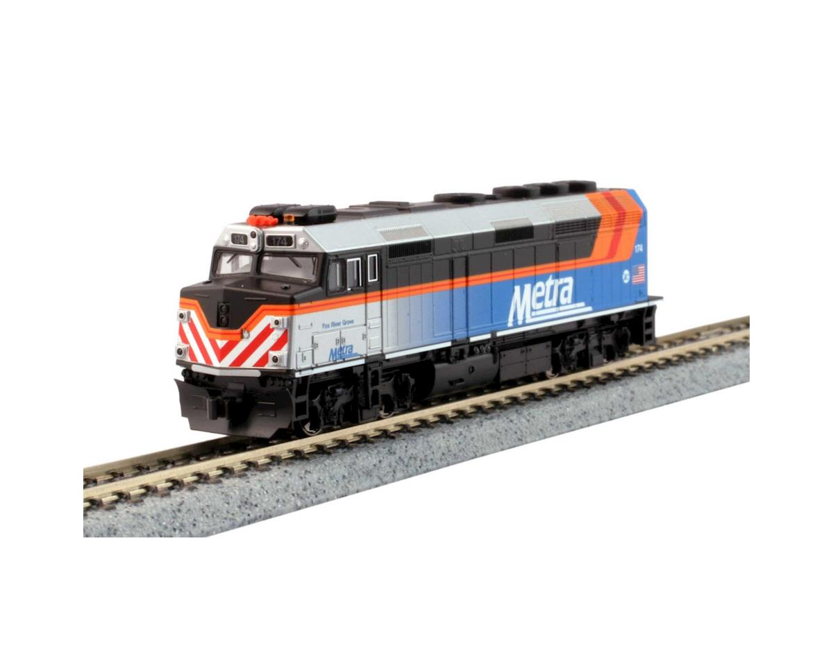Kato N F40PH Commuter Train Starter Set, Chicago Metra