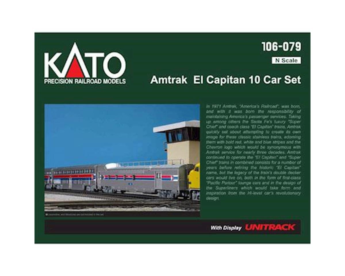 N Passenger Car Set, Amtrak/El Capitan (10)