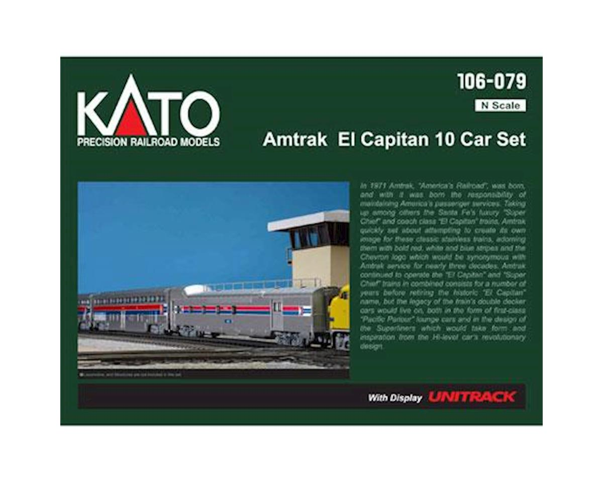 Kato N Passenger Car Set, Amtrak/El Capitan (10)
