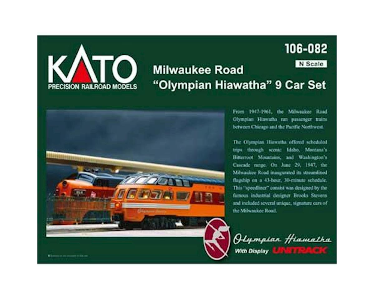 Kato N Passenger Car Set, MILW/Olympian Hiawatha (9)