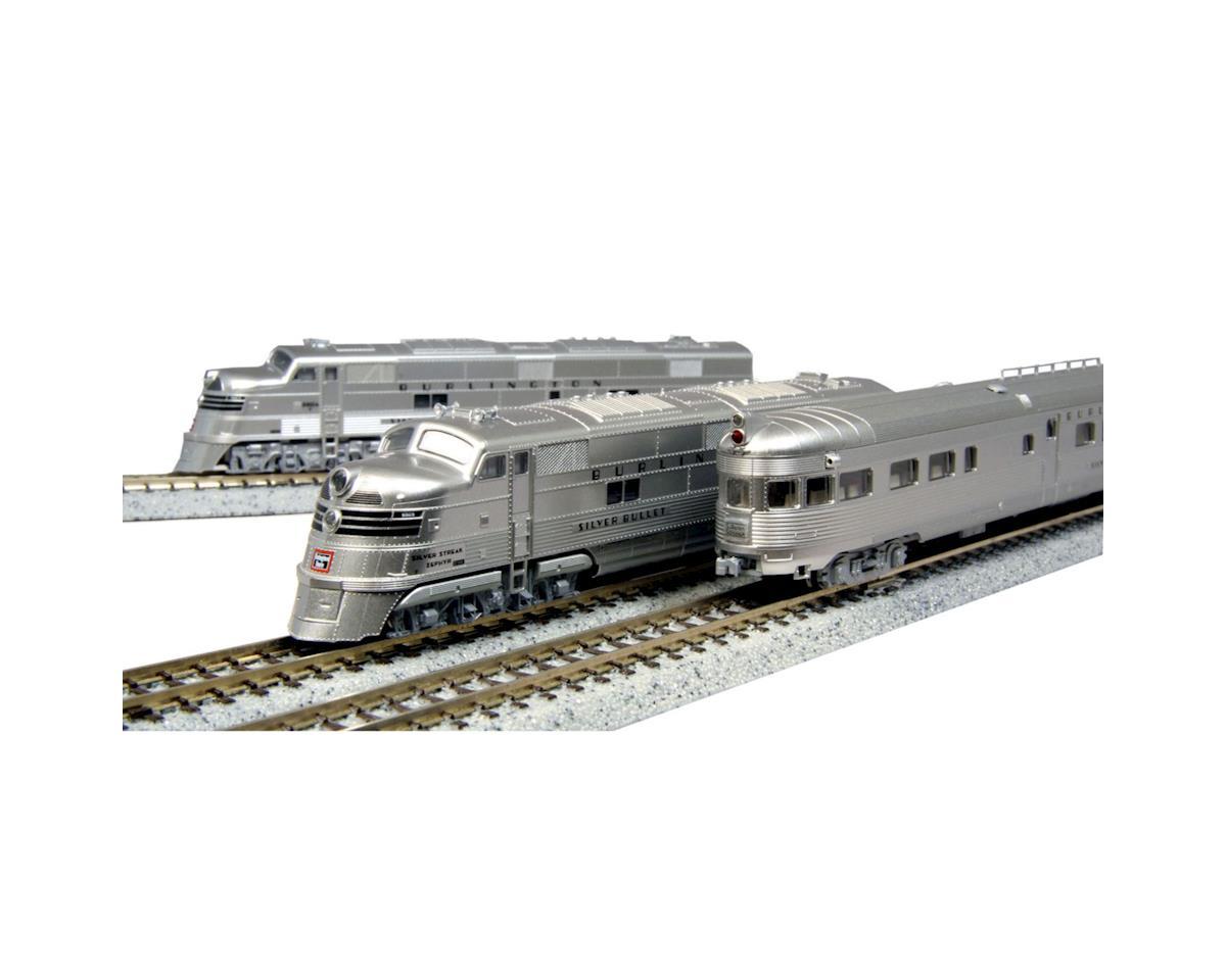 Kato N E5A Passenger Set, CB&Q/Silver Streak Zephyr (6)
