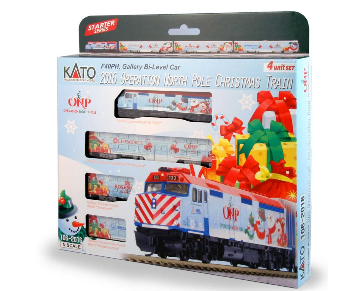 Christmas Train Set.Kato N Operation North Pole Christmas Train Set 2016 4