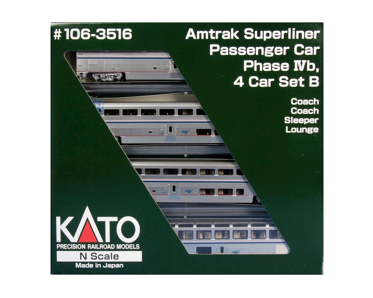 Kato N Superliner Set, Amtrak/Phase IVb B (4)