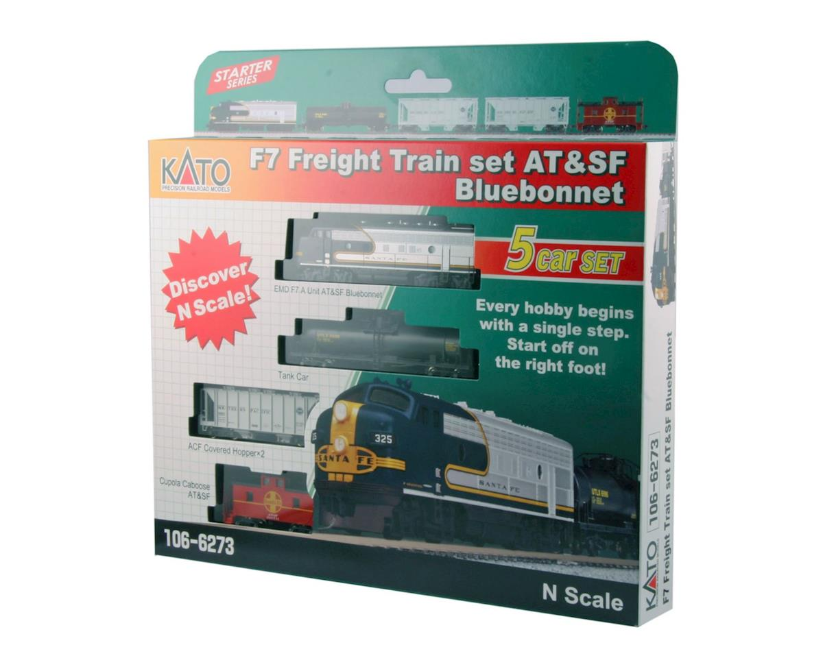 N F7A w DCC Freight Set SF Blue Bonnet