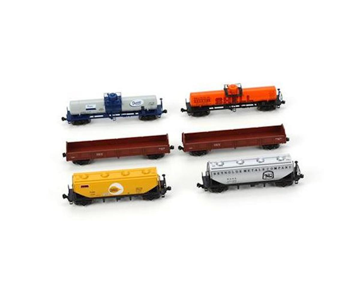 N Mixed Freight Car Set (6)
