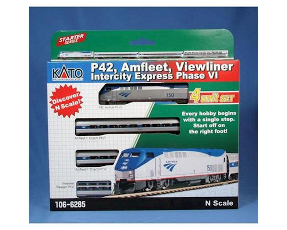 Kato N P42/Amfleet/Viewliner Set,AMTK/Intercity PhVI(4)