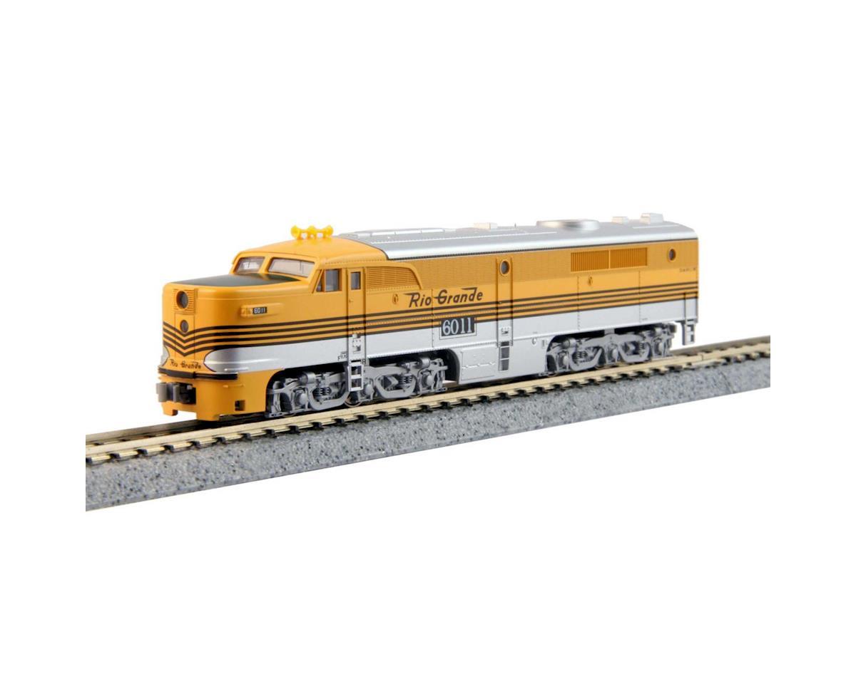 Kato N PA1 w/DCC, D&RGW/4 Stripe #6011