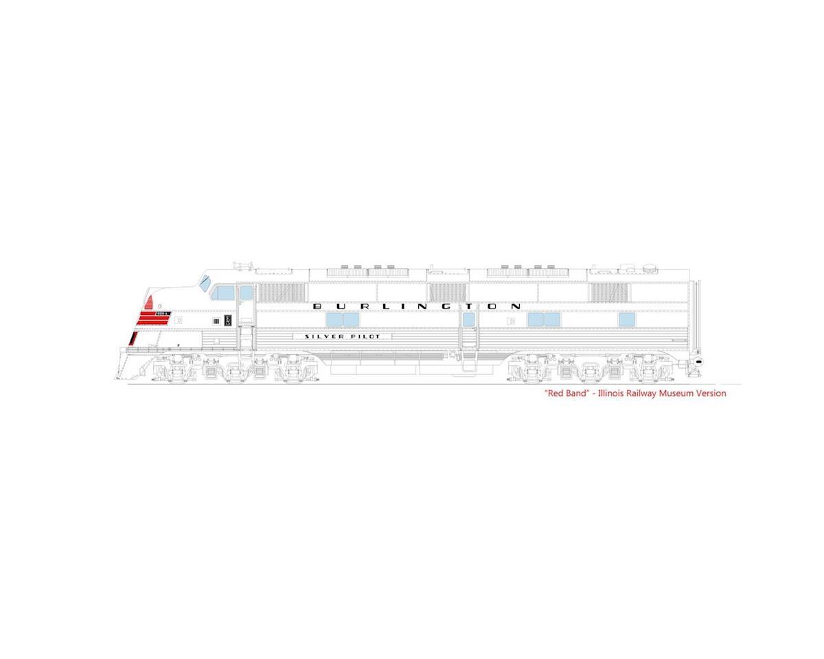 Kato N E5A w/DCC,CB&Q/Silver Pilot Museum Version#9911A