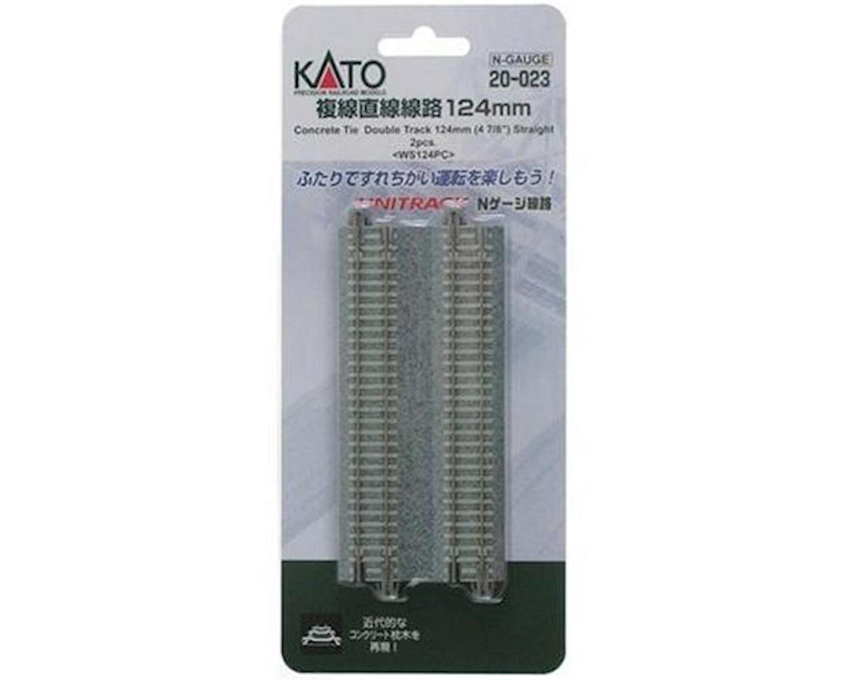 "Kato N 4-7/8"" Double Track Straight, Concrete Ties (2)"