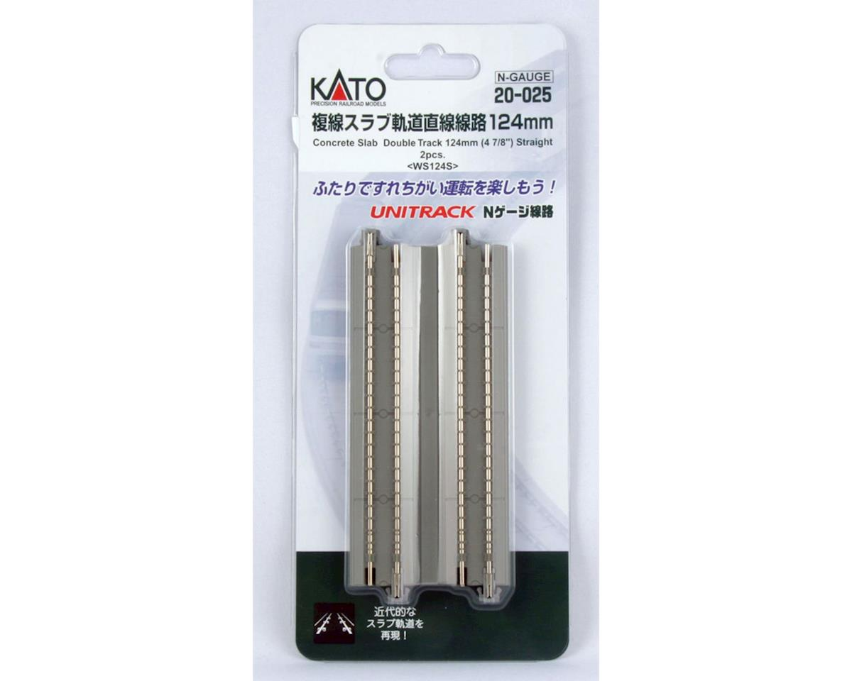 "Kato N 4-7/8"" Double Track Straight, Concrete Slab (2)"