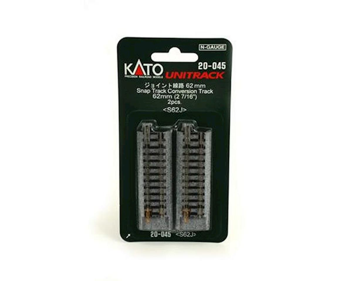 "Kato N 62mm 2-7/16"" Straight Conversion, Atlas Snap"