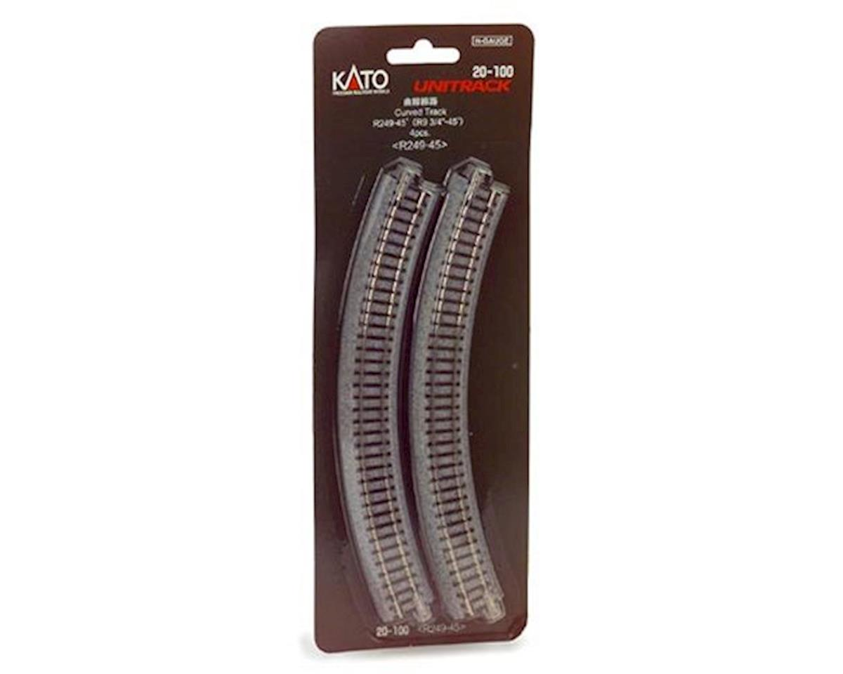 "Kato N 249mm 9-3/4"" Radius Curve 45-Degree (4)"