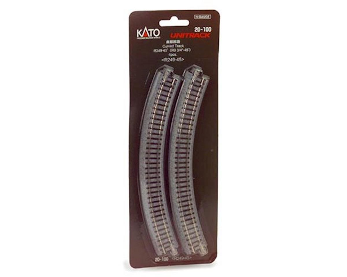 "Kato N 249mm 9-3/4"" Radius Curve 45-Degree (4)"