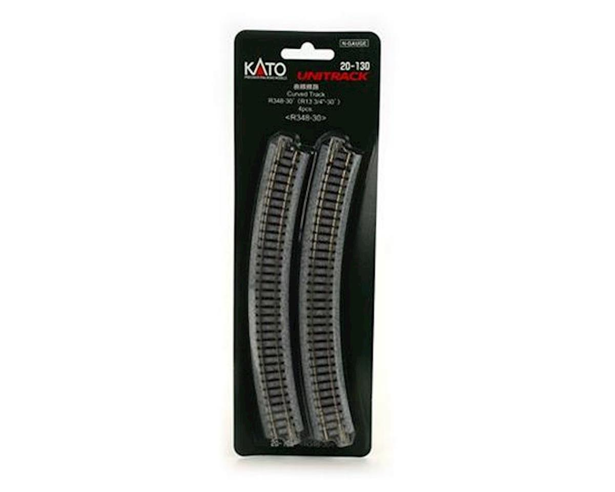 "Kato N 348mm 13-3/4"" Radius Curve 30-Degree (4)"