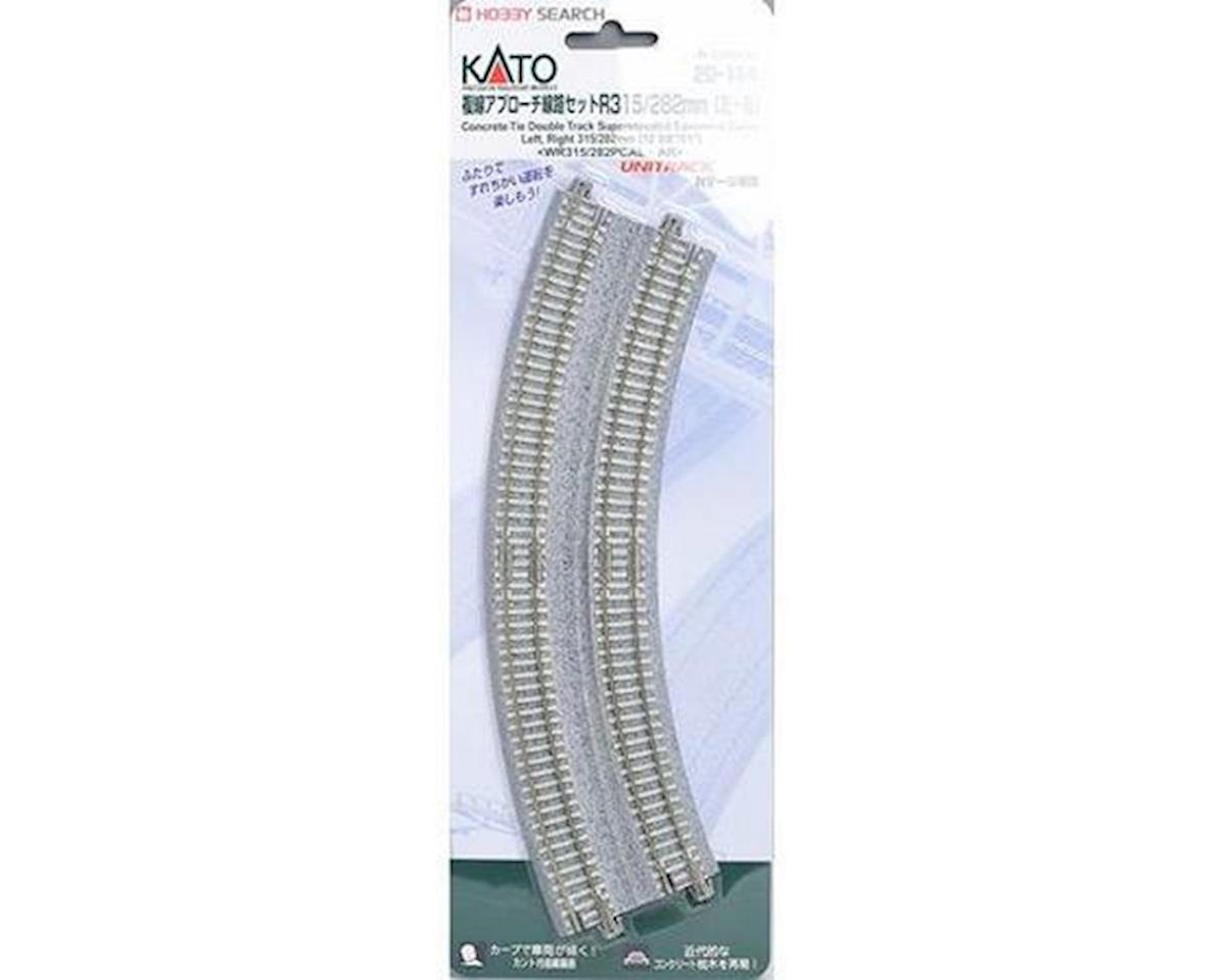 "Kato N 11""/12.4"" 45-Degree Double Track Easement (2)"