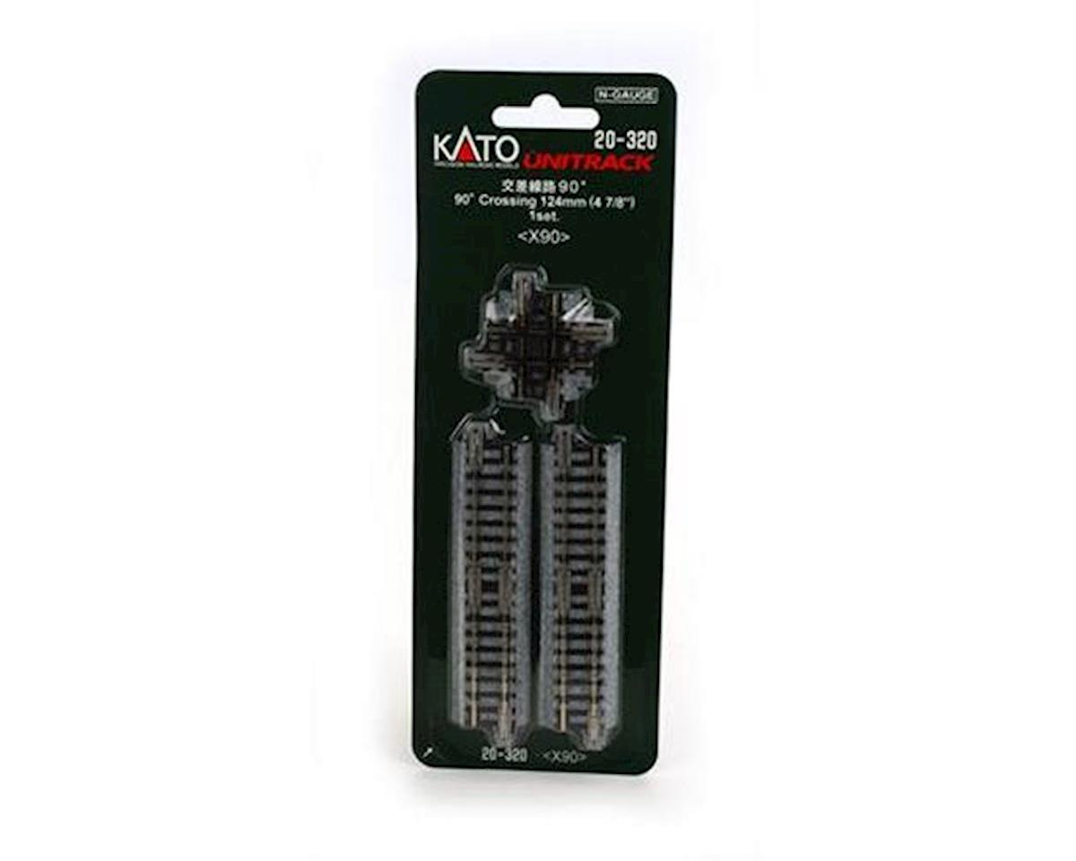 "Kato N 124mm 4-7/8"" 90-Degree Crossing"