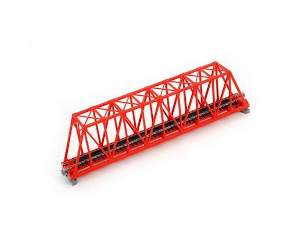 "Kato N 248mm 9-3/4"" Truss Bridge, Red"
