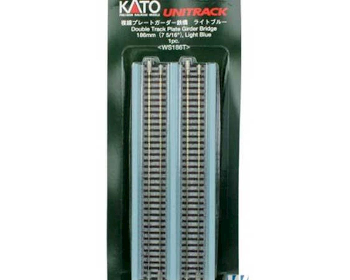 "Kato N 186mm 7-5/16"" Double Plate Girder Bridge, LtBlue"
