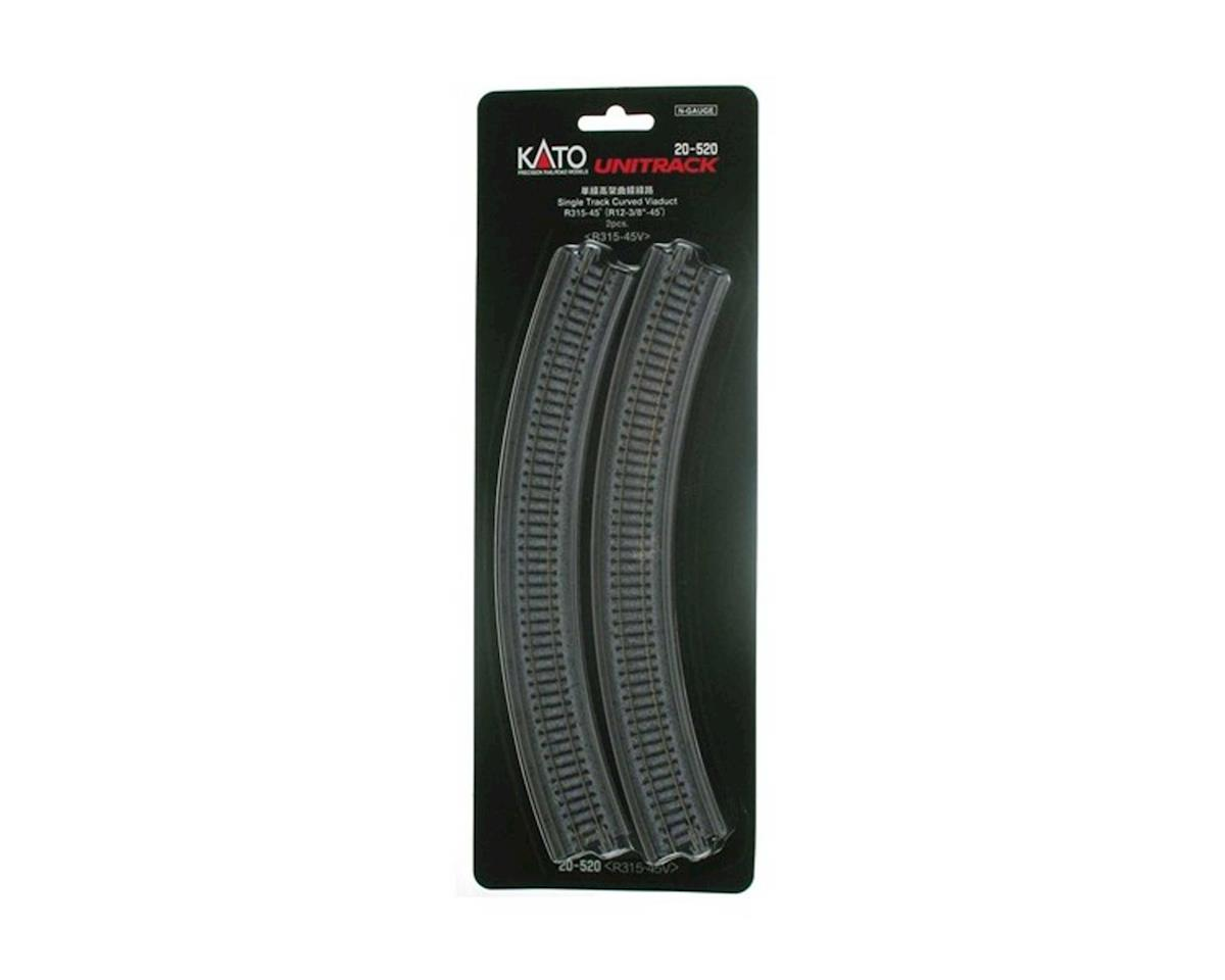 "Kato N 315mm 12-3/8"" Radius 45-Degree Viaduct (2)"