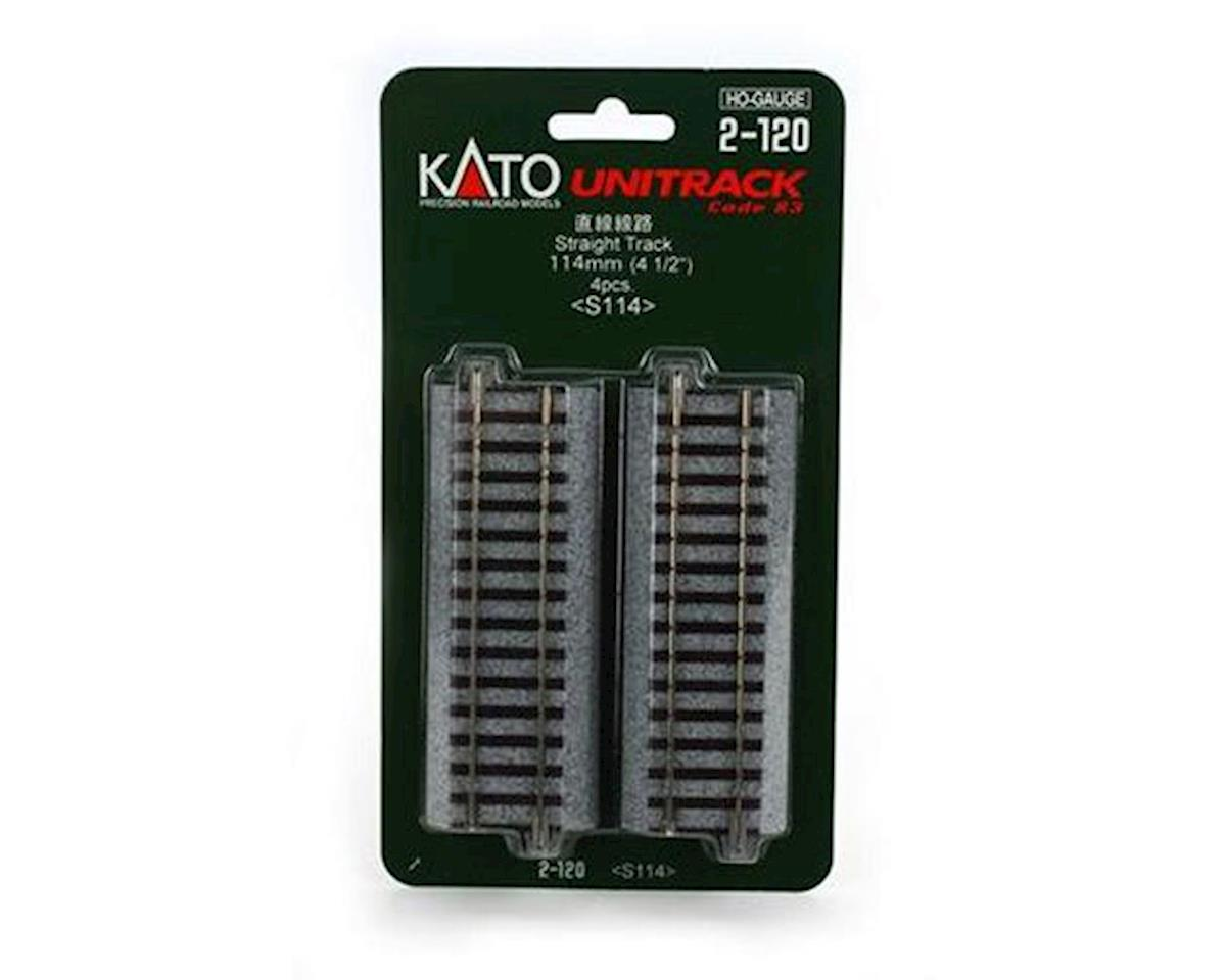"Kato HO 114mm 4-1/2"" Straight (4)"