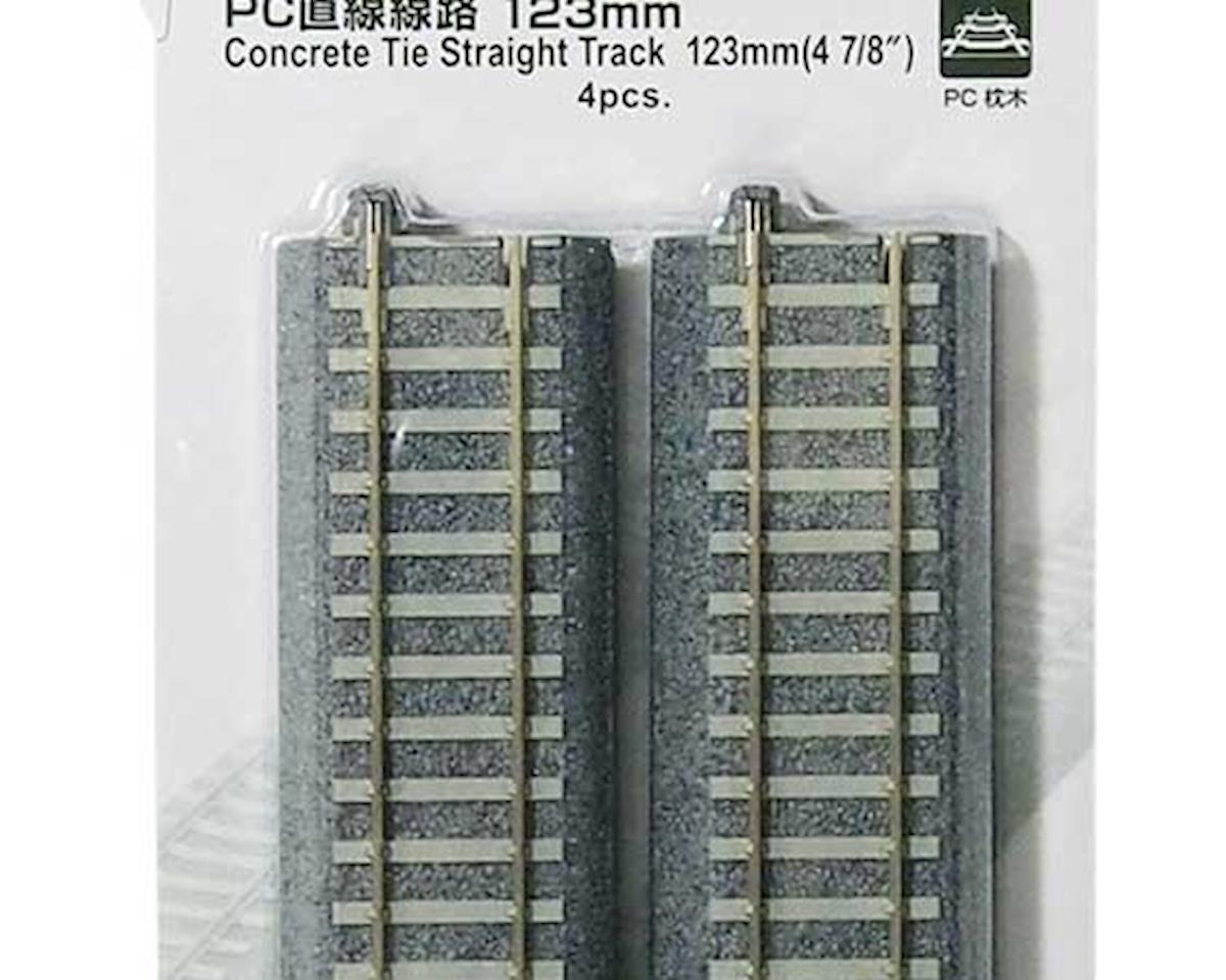 "Kato HO 123mm 4-7/8"" Track Straight, Concrete Ties (4)"