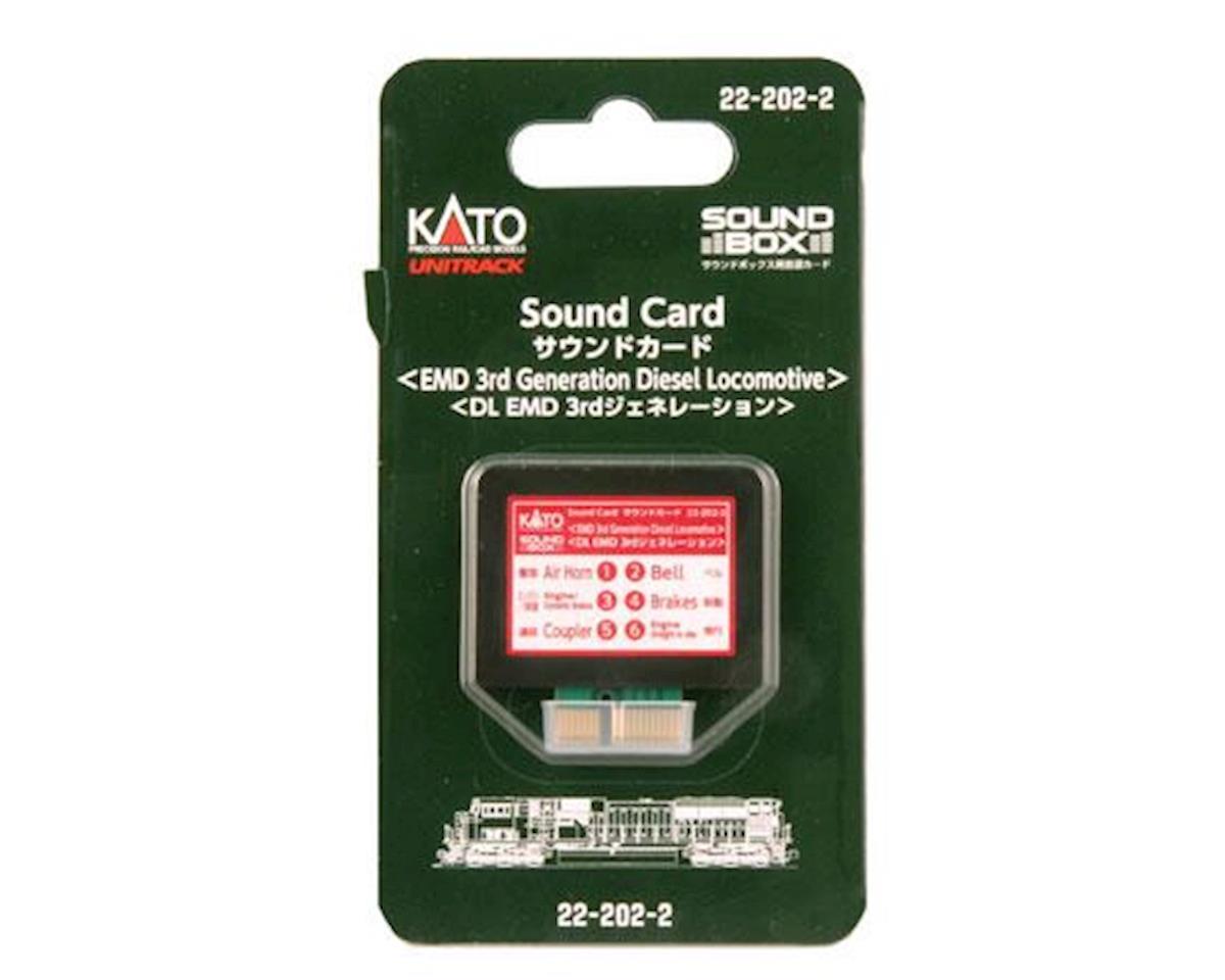 Kato Sound Card, Third Generation EMD Diesel