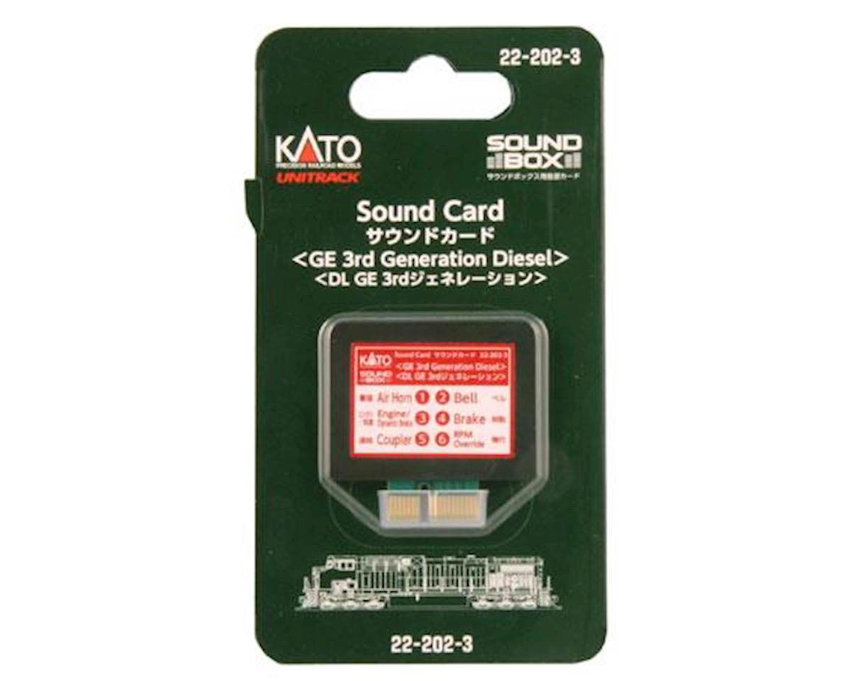 Kato Sound Card, Third Generation GE Diesel