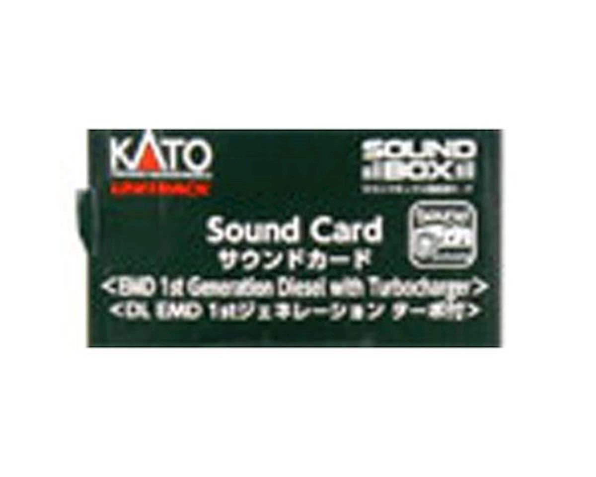 Kato Sound Card, EMD 1st Gen Diesel w/Turbo Sound Card