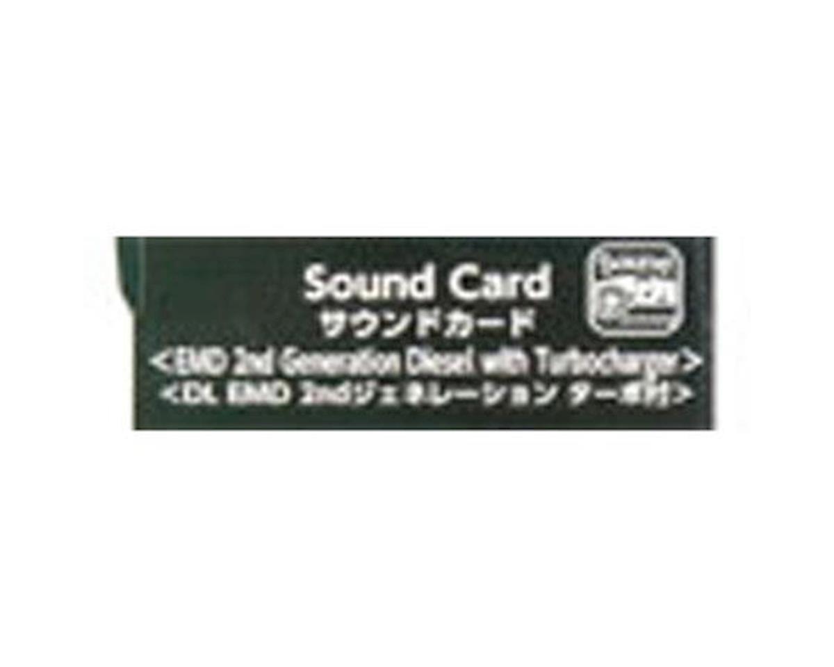 Sound Card, EMD 2nd Gen Diesel w/Turbo Sound Card by Kato