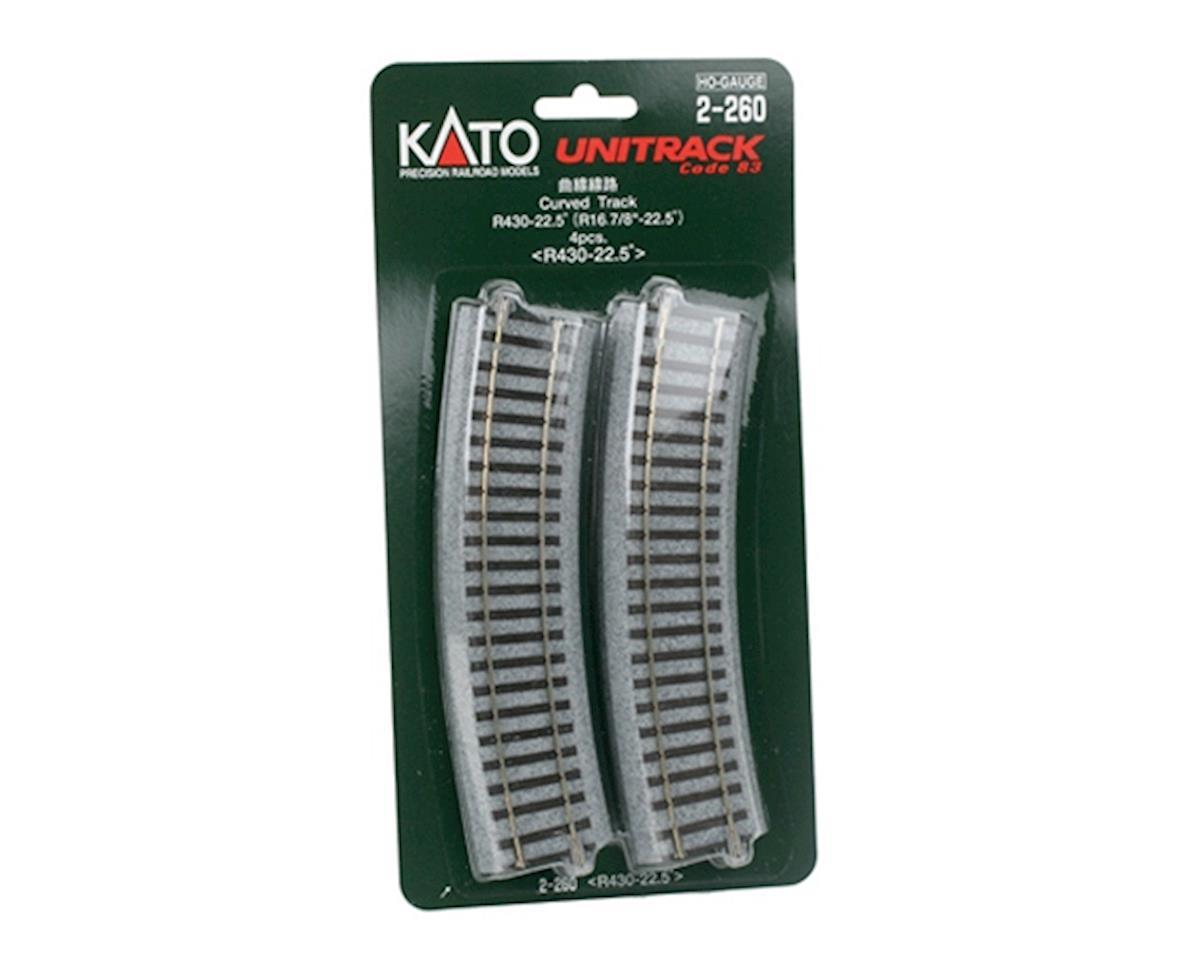 "Kato HO 430mm 16-7/8"" Radius Curve 22.5-Degree (4)"