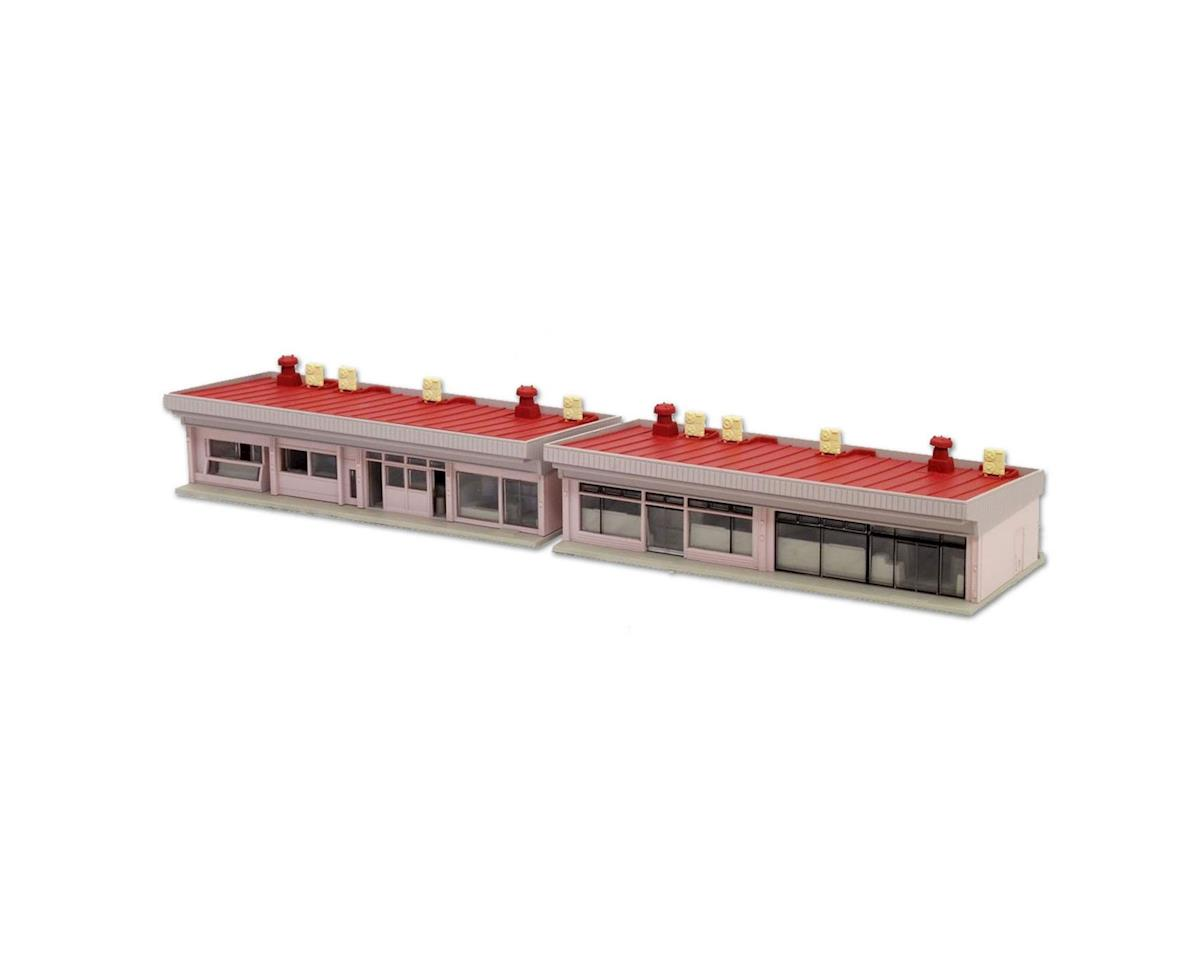 Kato N Small Strip Mall, Red