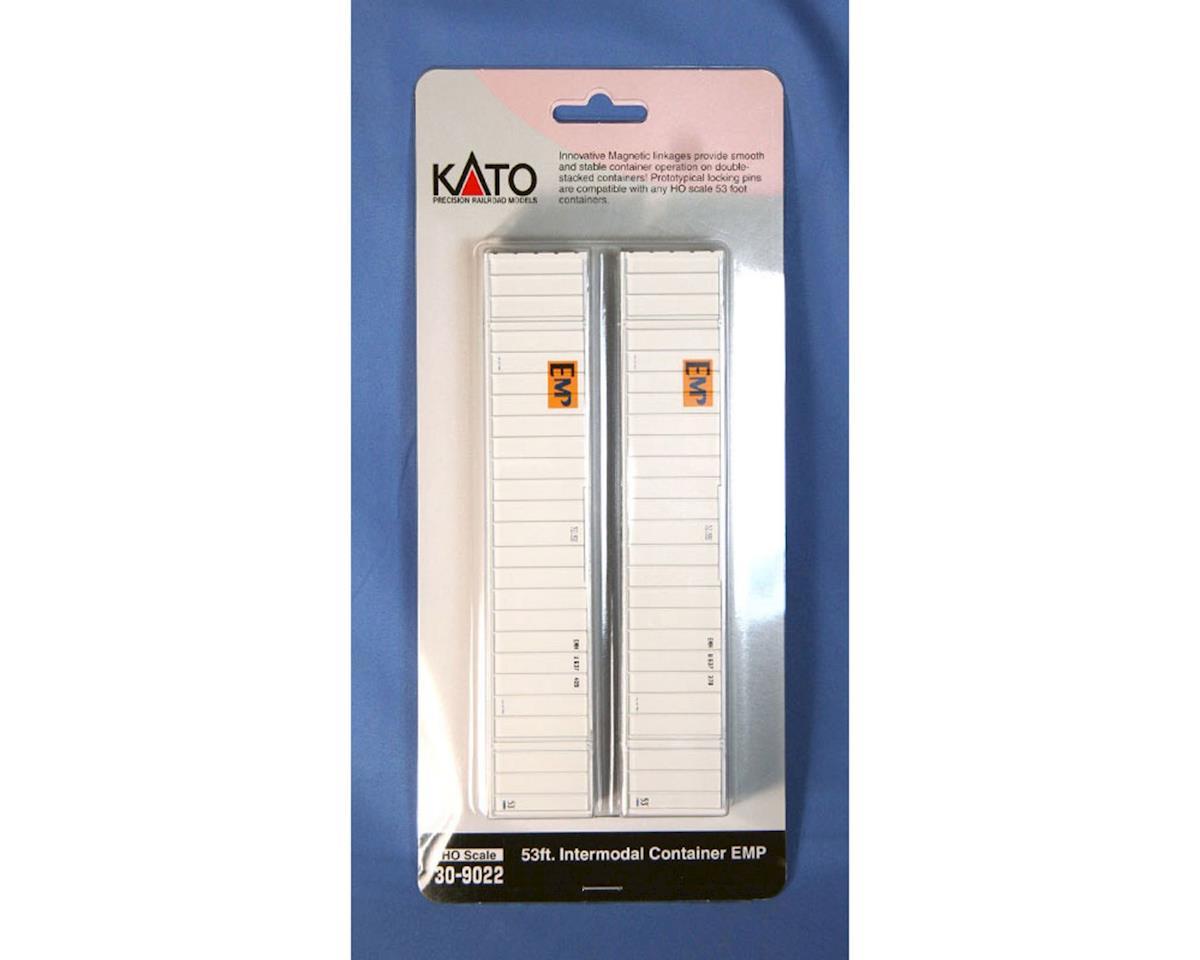Kato HO 53' Container, EMP #637265/637136 (2)
