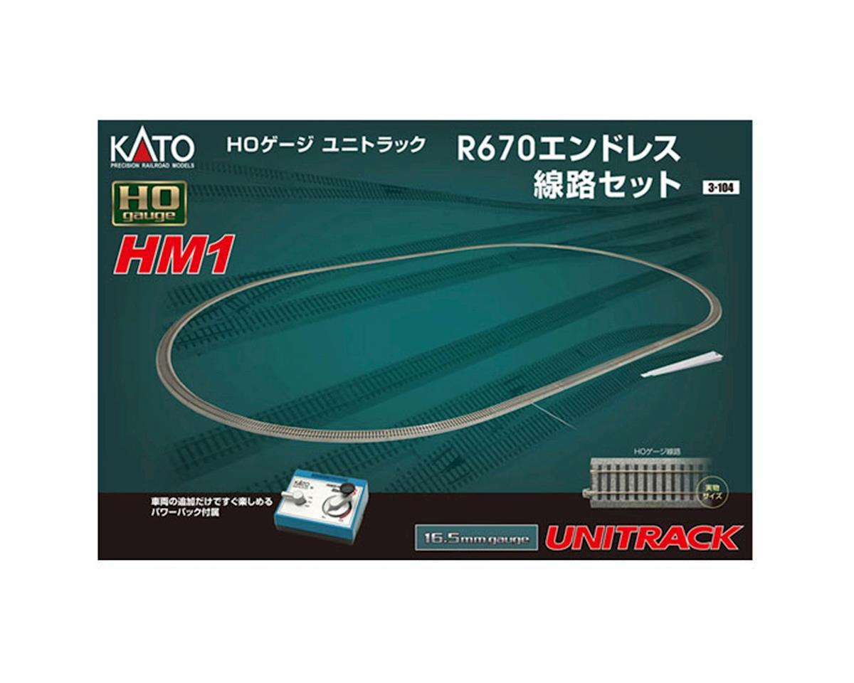 Kato HO HM1 Basic Oval Track Set w/Power Pack