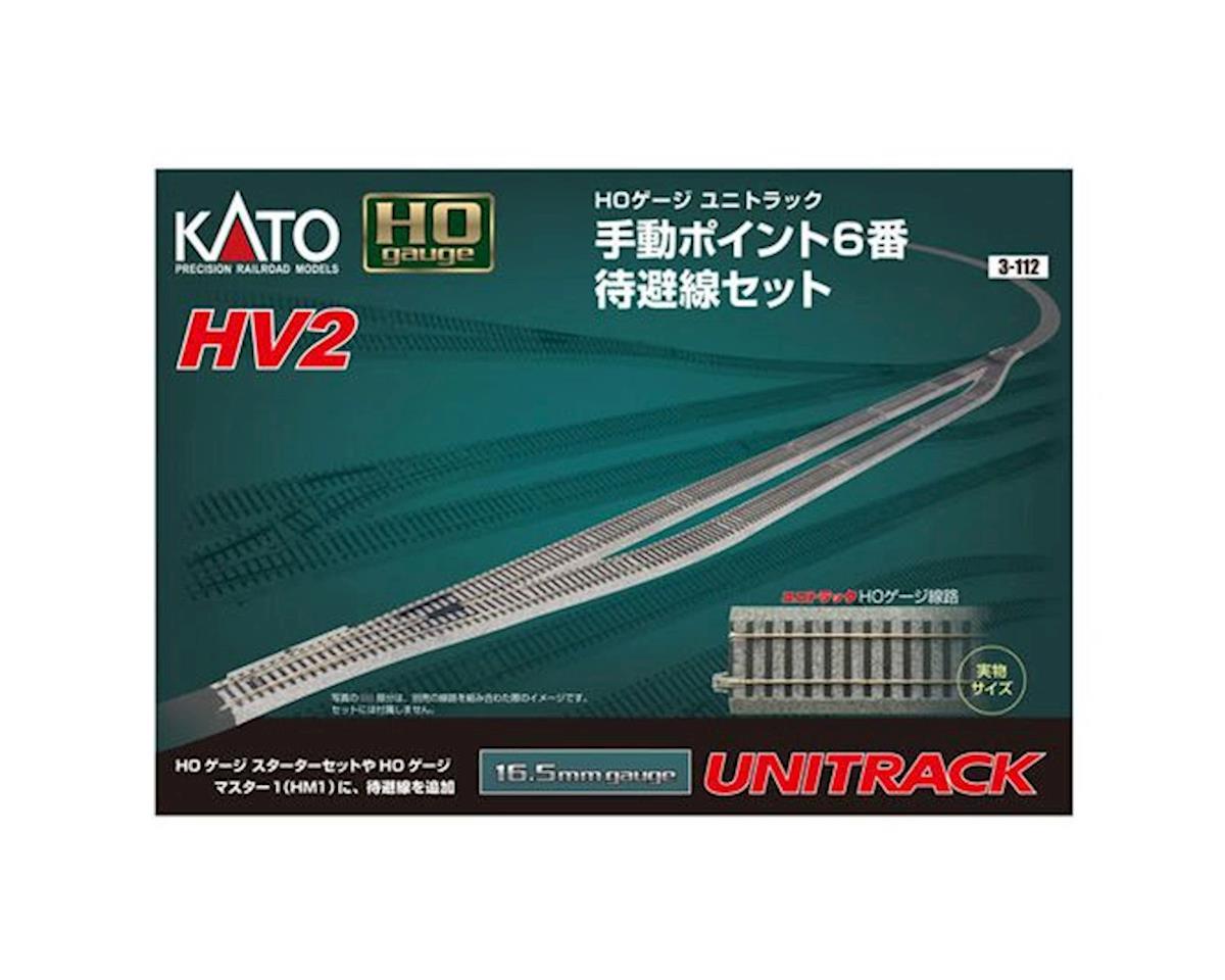 Kato HO HV2 Passing Siding Set w/#6 Manual Turnout