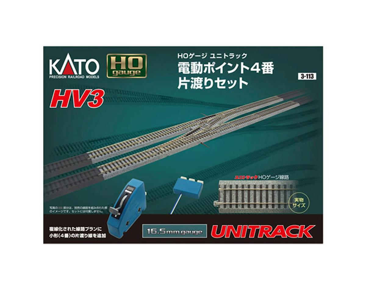Kato HO HV3 Interchange Track Set w/#4 Remote Turnout