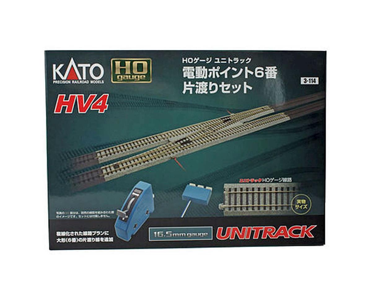 Kato HO HV4 Interchange Track Set w/#6 Remote Turnout