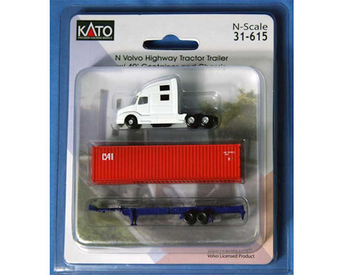 Kato N Volvo Tractor w/40' Container, CAI