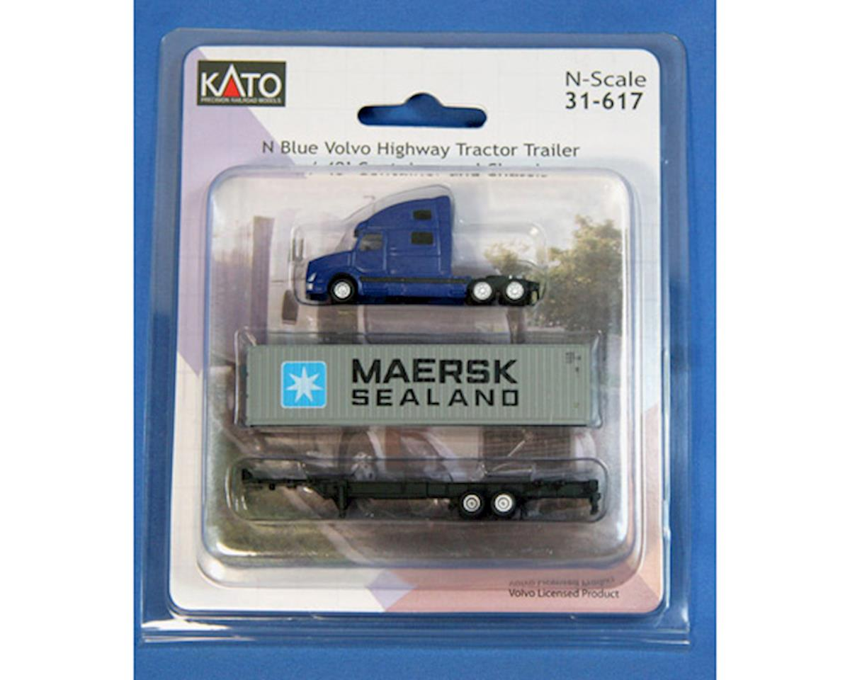 Kato N Volvo Tractor w/40' Container, Maersk/Sealand