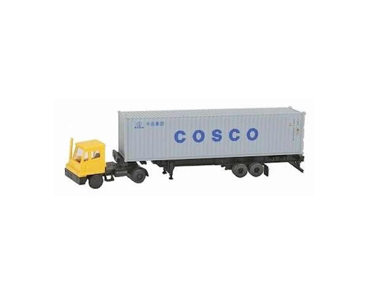 N Yard Tractor w/40' Container, Cosco by Kato