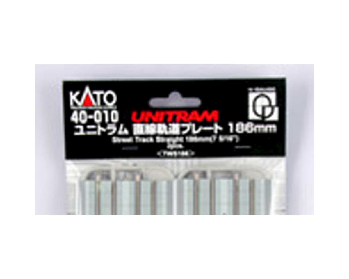 "Kato UNITRAM 186mm 7-5/16"" Straight Street Track (2 pc)"