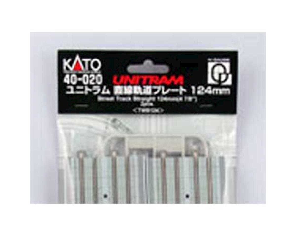 "Kato UNITRAM 124mm 4-7/8"" Straight  Street Track (2 pc)"