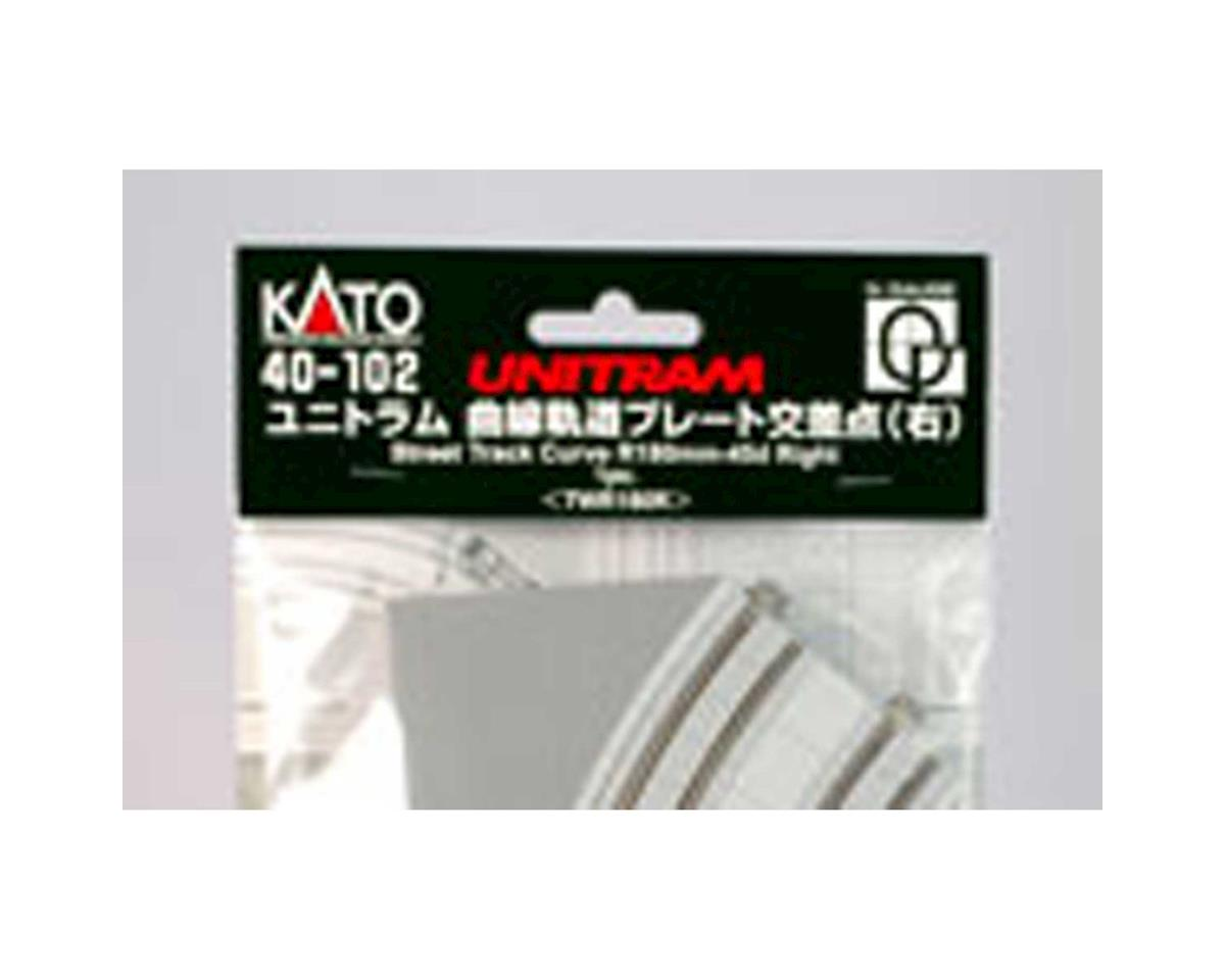 Kato UNITRAM R180mm 45 Degree Right Curve Street Track